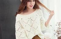 韩版蝙蝠袖毛衣