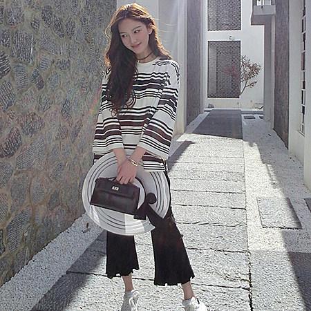 韩版条纹T恤