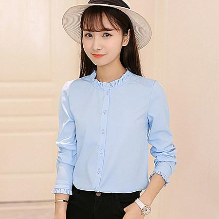 韩范休闲白衬衫