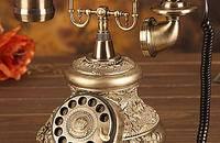 悦旗旋转盘仿古电话座机欧式电话机复古