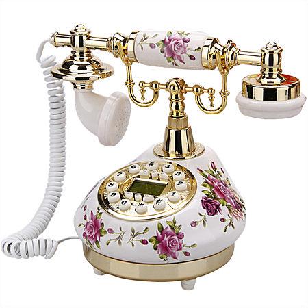 欧式时尚田园家用仿古电话机