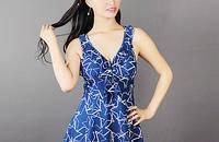 波点保守泳衣女大码泳衣遮肚显瘦连体裙式泳衣装