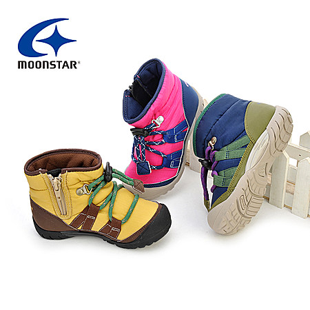 moonstar男女童防水雪地靴