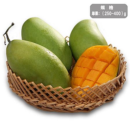新鲜水果越南进口玉芒青芒4斤 热带水果青皮芒果