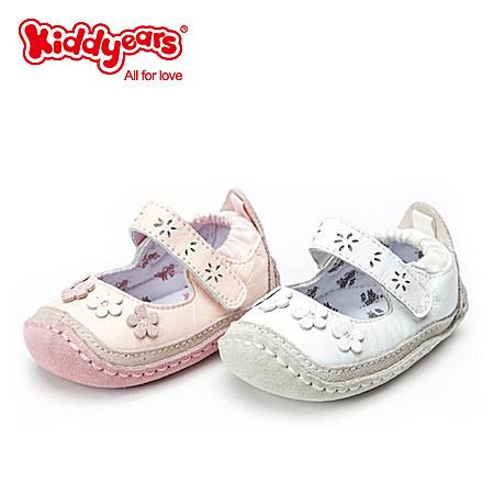 女童新款婴儿鞋防滑可爱花朵宝宝学步鞋软底真皮