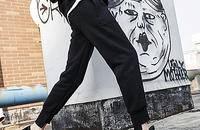 宽松加绒卫裤