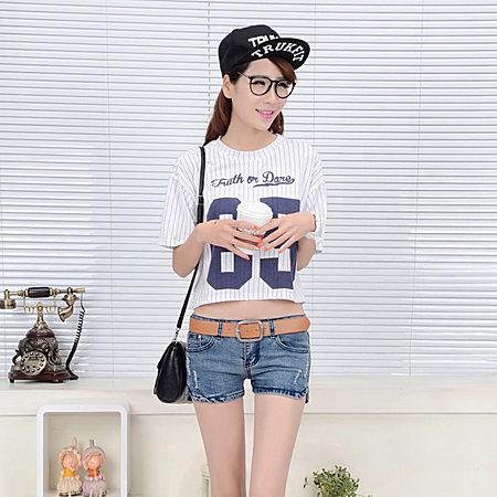 时尚韩版短裤 紧身低腰性感时尚全棉短款牛仔裤