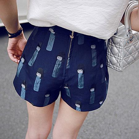 韩版修身短裤套装棉麻休闲两件套