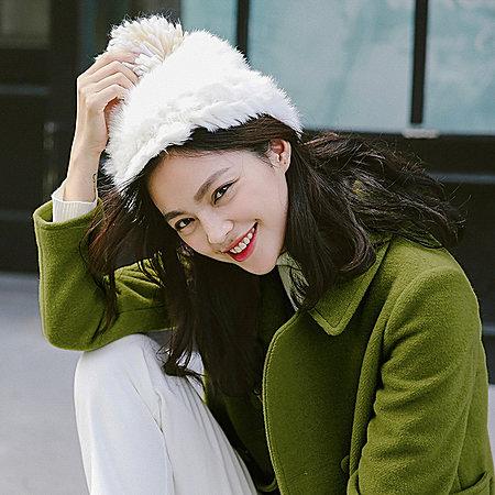 小维2017秋冬装新款羊绒大衣纯色修身中长款毛