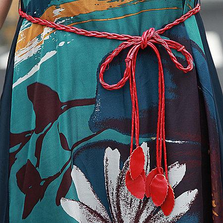 波西米亚沙滩裙天丝连衣裙