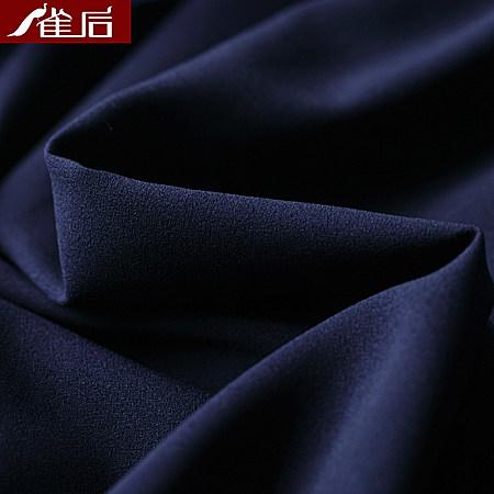 条纹拼接网纱收腰显瘦蓬蓬连衣裙