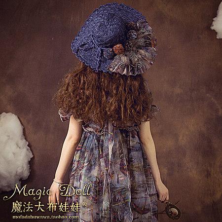森系蕾丝花瓣遮阳草帽