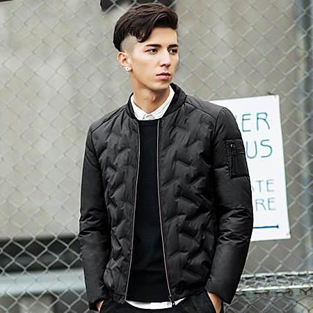 轻薄短款修身款羽绒青少年男装外套