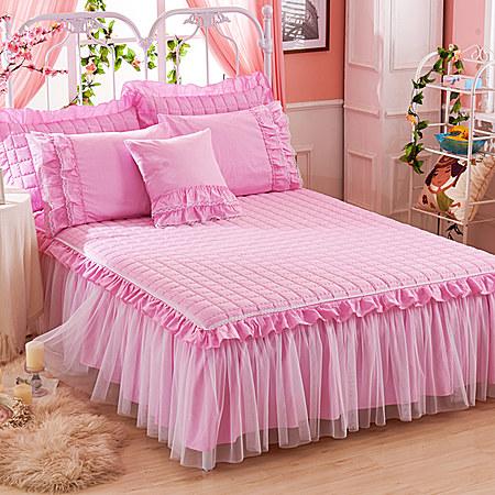加棉蕾丝纯色公主床裙