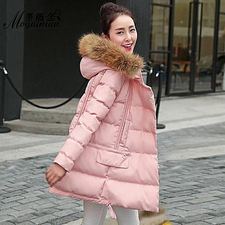 冬季韩版修身连帽中长款棉衣棉服女装小棉袄潮