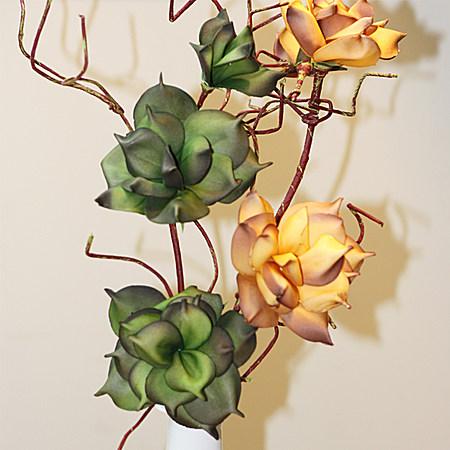 仿真月季花 居家客厅装饰花写意假花