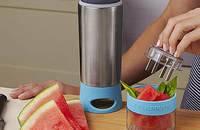 手动水果榨汁杯 便携双层不锈钢保温柠檬杯子