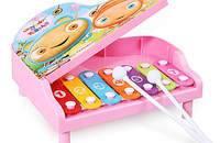 嬰幼兒童益智音樂玩具八音手敲琴