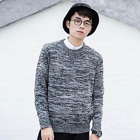 雪花杂线针织衫