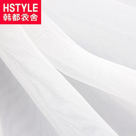 韩都衣舍韩版15夏装新款女装印花欧根纱连衣裙