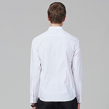 男秋款长袖衬衫纯棉衬衣小清新