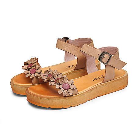 花朵松糕凉鞋