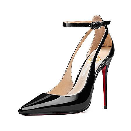 新款性感一字扣绑带女鞋