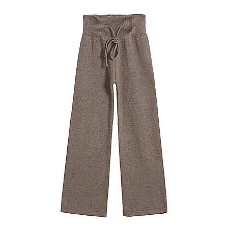 休闲花色针织阔腿裤