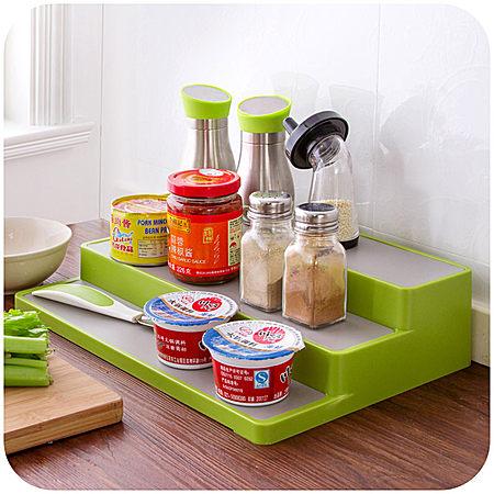 居家家 厨房阶梯式分层分类调味架
