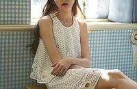 单品|无袖水溶蕾丝镂空套装连衣裙