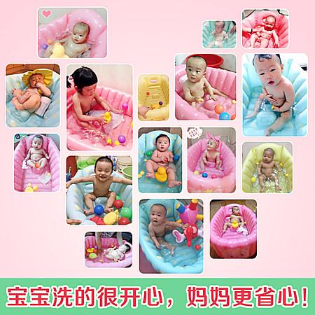 婴儿充气浴盆宝宝洗澡盆加厚新生儿童沐浴洗浴盆