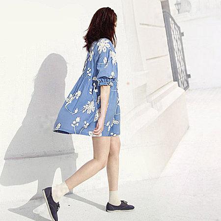 夏装新款刺绣韩版仙女裙大摆纯棉连衣裙