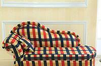 兰方格贵妃椅