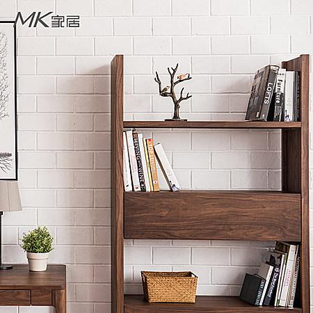 日式黑胡桃木置物架