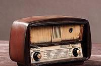 复古做旧老式收音机美式乡村酒吧咖啡树脂摆件