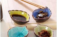 创意树叶陶瓷小碟子