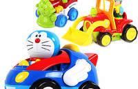 贝恩施儿童遥控卡通车 耐摔带音乐灯光 多款可选