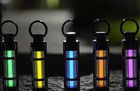 自发光25年钛合金氚气灯荧光管创意钥匙扣