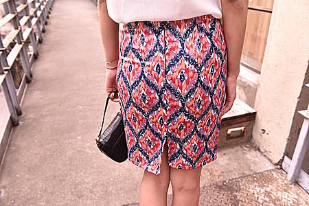 欧美复古菱形图案仿真丝缎面中长款半身裙包臀裙