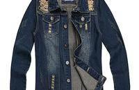 破洞牛仔外套秋冬韩版修身长袖青年潮流夹克个性