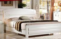 白色实木床 橡木床 简约新床