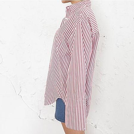 韩国条纹衬衫