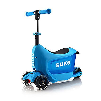 三合一四轮闪光可升降折叠滑板车旅行箱滑行车