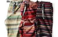 彩条纯棉短裤