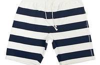 纯棉条纹短裤