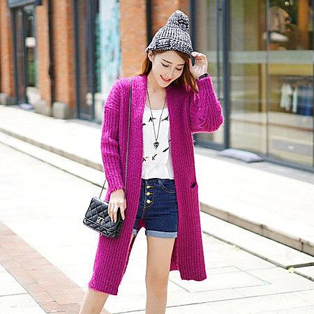加厚中长款毛衣开衫外套秋季新品韩国宽松