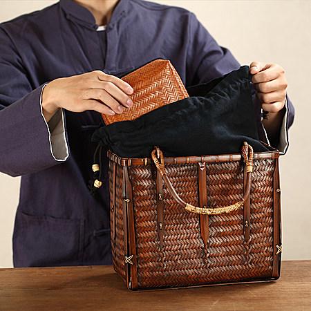 手编日式文艺复古 香具收纳包茶人包