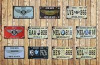 复古创意怀旧车牌家庭酒吧墙上装饰品