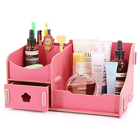 大号木质化妆品收纳盒抽屉创意桌面收纳盒储物