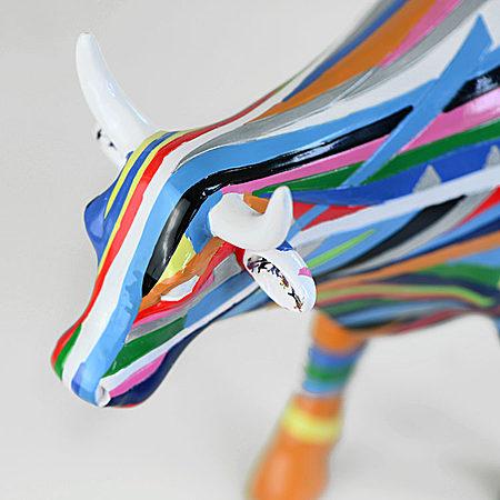 艺术品工艺品牛 限量版手绘牛摆件 彩虹牛